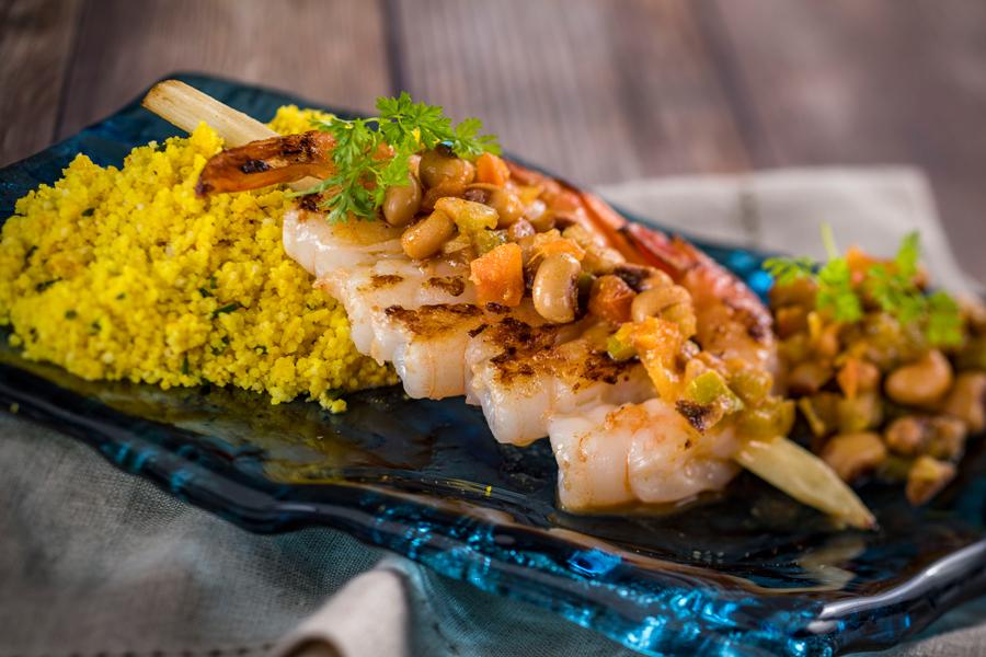 Piri Piri Skewered Shrimp from Africa for the 2020 Taste of EPCOT International Food & Wine Festival