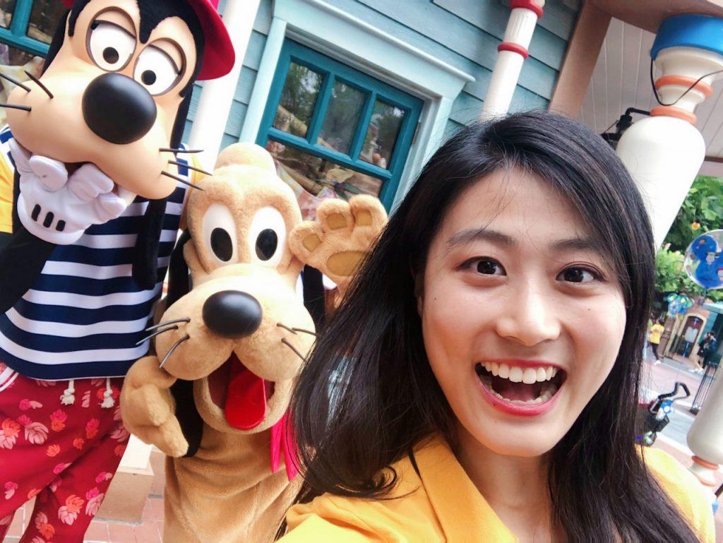 Shanghai Disney Resort Ambassador Eleven Song with Goofy and Pluto