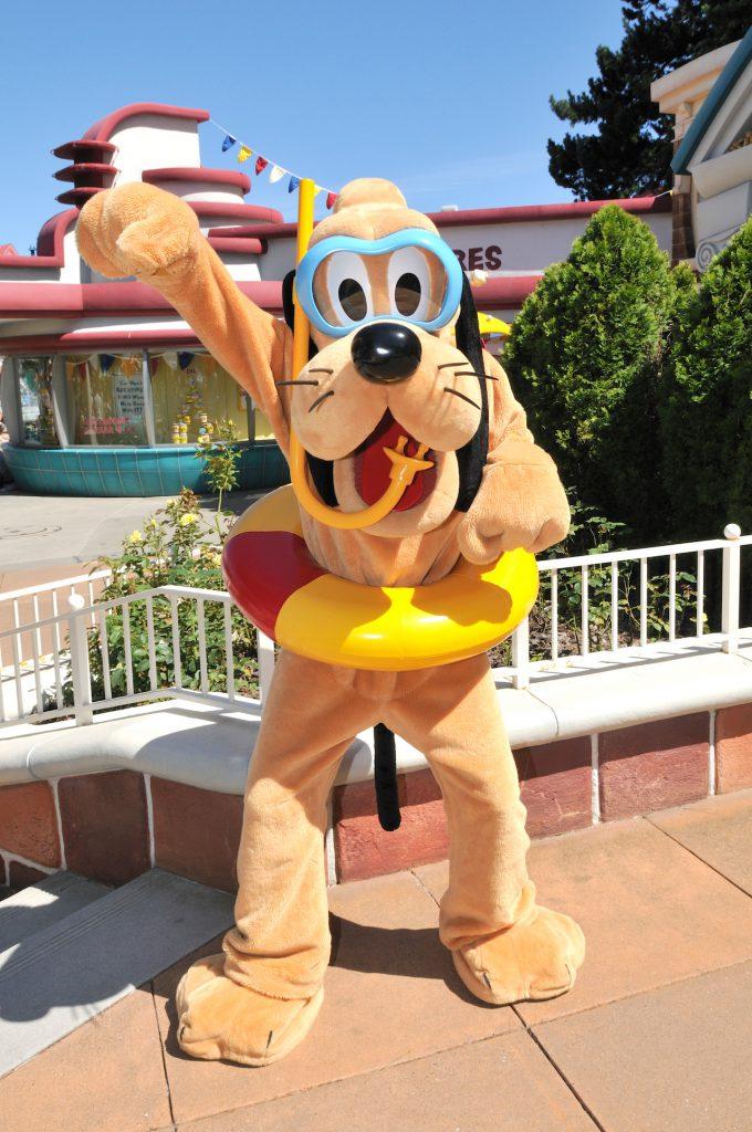 Pluto at Tokyo Disneyland