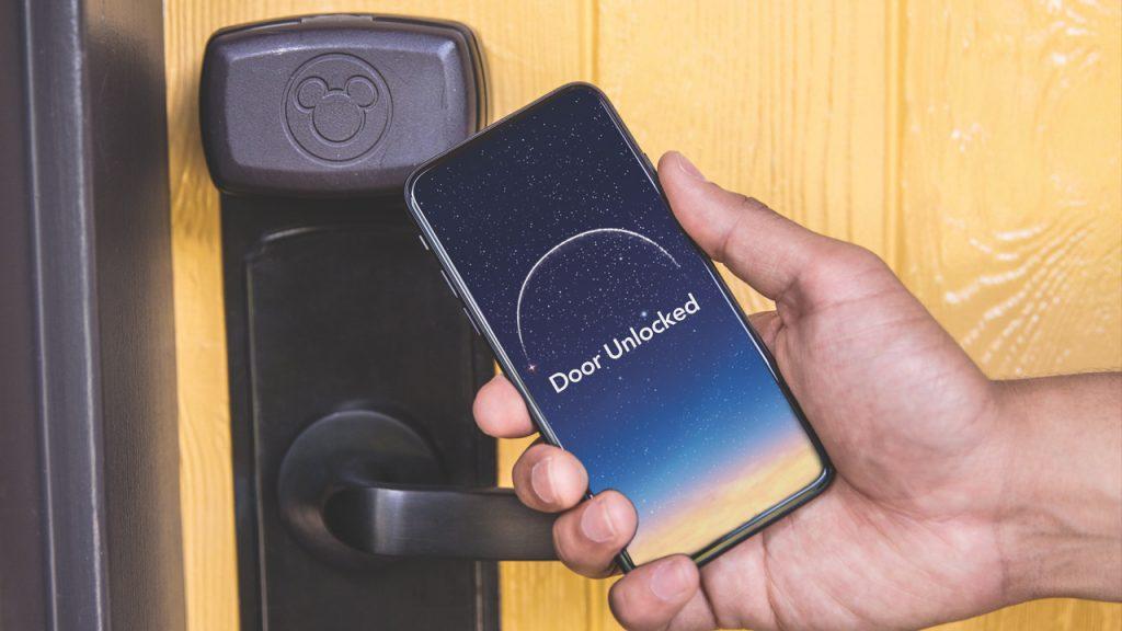 Unlock you Walt Disney World Resort hotel room with your phone