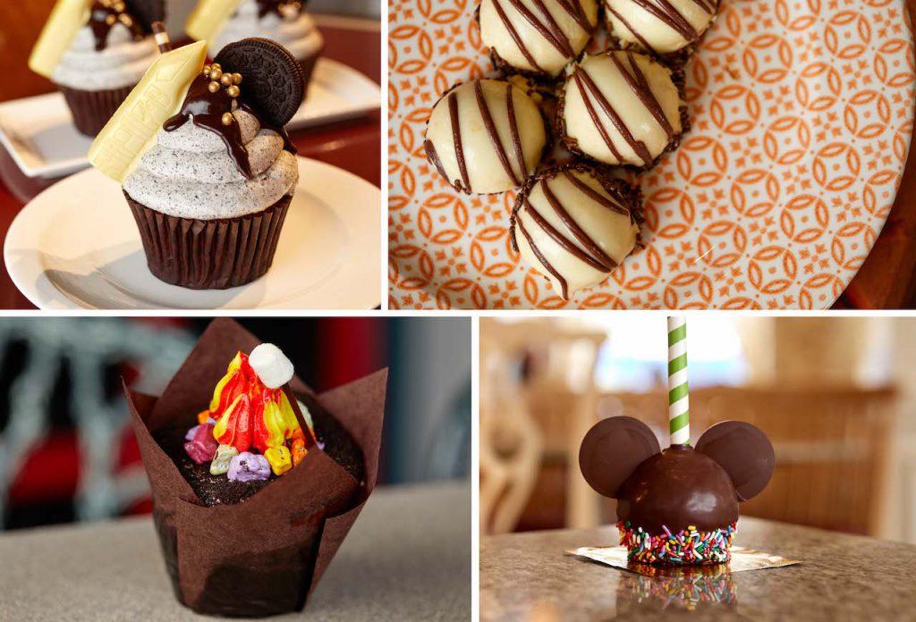 Collage of sweet treats from Walt Disney World Resort Hotels