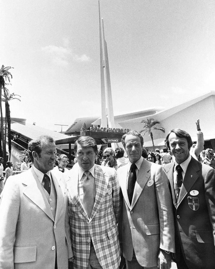A Mercury Seven reunion at Disneyland in 1977. © Disney
