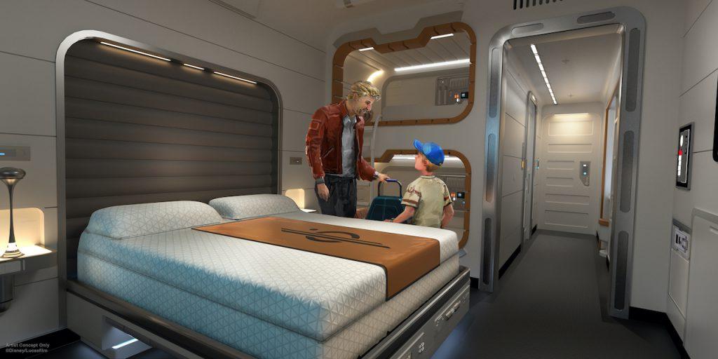 Rendering of  Star Wars: Galactic Starcruiser coming to Walt Disney World Resort