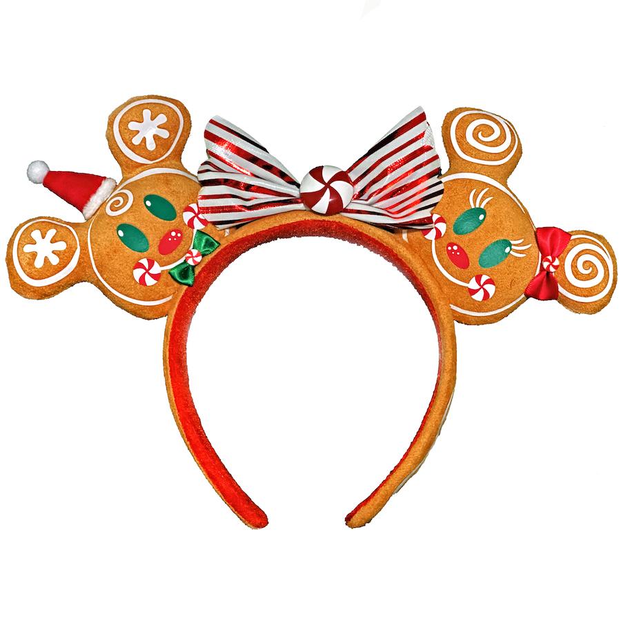 Gingerbread Mickey and Minnie Ear Headband