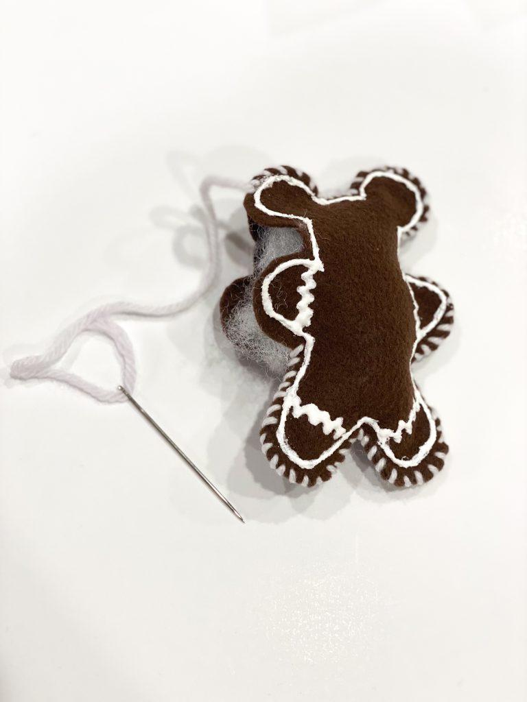 DIY Gingerbread Mickey ornament